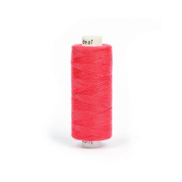 Нитки бытовые IDEAL 40/2 366м 100% п/э, цв.158 розовый - фото 246915