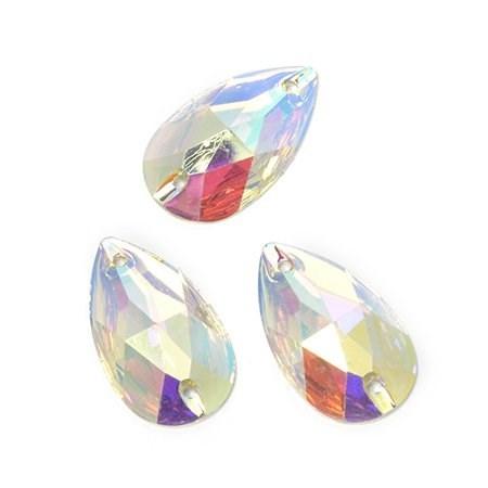 Стразы пришивные акриловые (Resin) Tesoro Crystal арт.TS.ED2.4.10 цв.AB Crystal 17х28 мм уп.5 шт - фото 247168