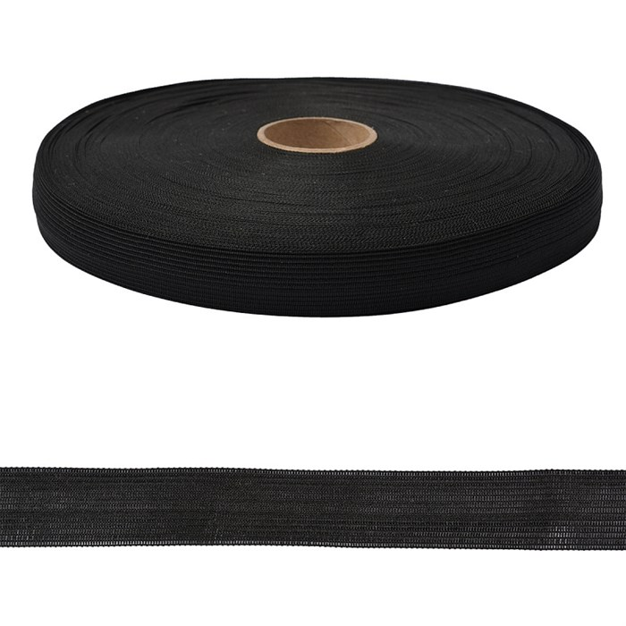 Тесьма вязаная окантовочная  18мм  арт.3С-235/18  цв.147 черный   уп.50м - фото 247662
