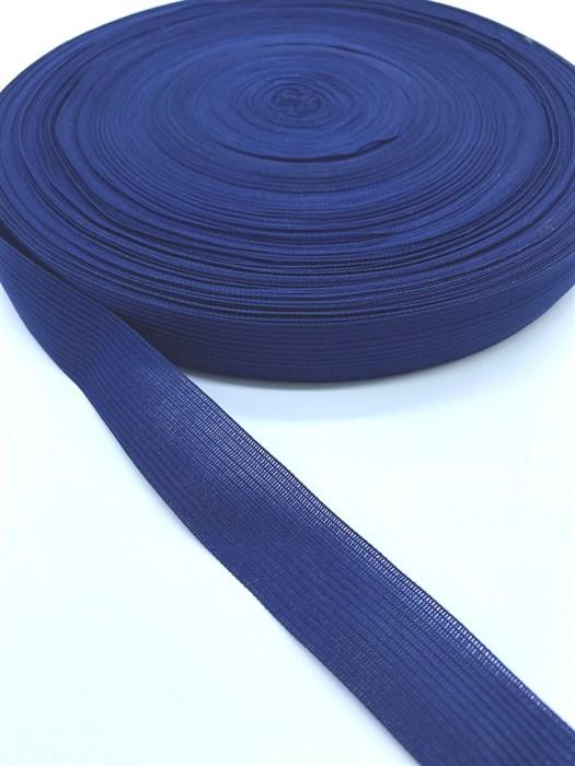 Тесьма вязаная окантовочная, 22мм, арт.4С-516/22 ,цв. 26 т.синий - фото 247666