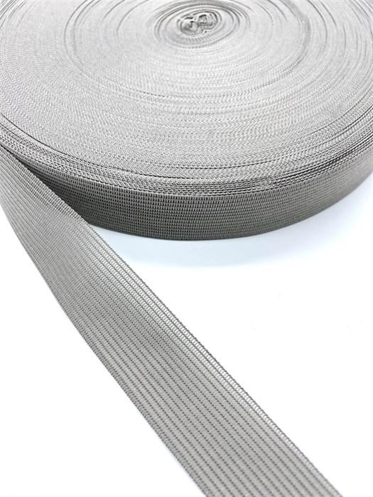 Тесьма вязаная окантовочная, 22мм, арт.4С-516/22 ,цв.157 св.серый - фото 247677