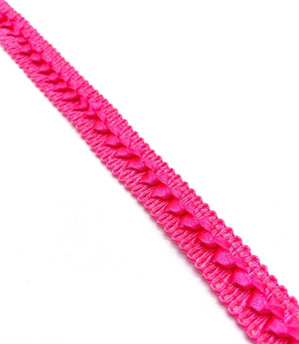 Тесьма самоса арт.ШМ.03-А шир.20мм цв.ярко-розовый  А - фото 247682