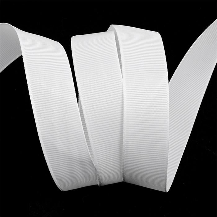 Лента Ideal репсовая в рубчик шир.25мм цв. 029 белый уп.27,42м - фото 248156