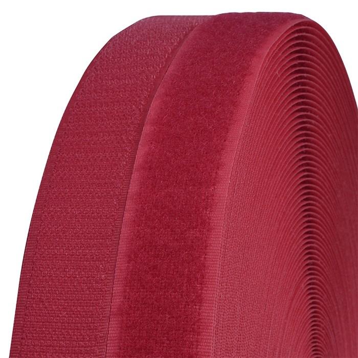 Лента липучка TBY пришивная кач.B шир.25мм цв.F148 красный уп.25м (пара) - фото 248261