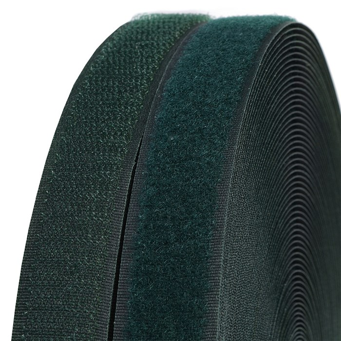 Лента липучка TBY пришивная кач.B шир.25мм цв.F273 зеленый уп.25м (пара) - фото 248264