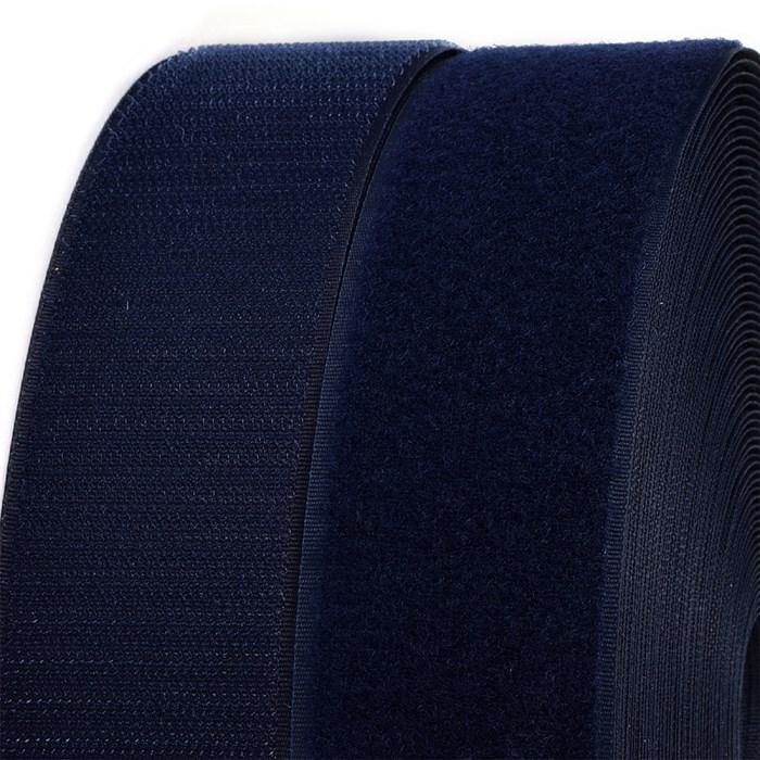 Лента липучка TBY пришивная кач.B шир.25мм цв.F330 т.синий уп.25м (пара) - фото 248265