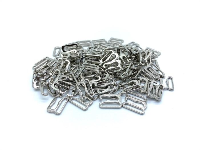 Крючок для бюстгальтера металл d10мм арт.KRDB-10 цв.серебро уп.100шт (+-5шт) - фото 248266