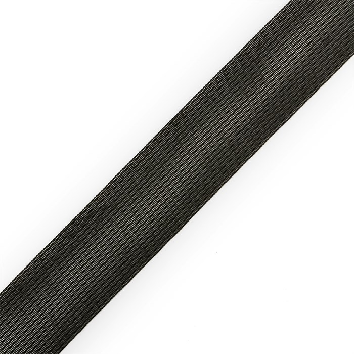Тесьма вязаная окантовочная 32мм,арт.32С-32/32 цв.черный плотность3.2г/м - фото 248311