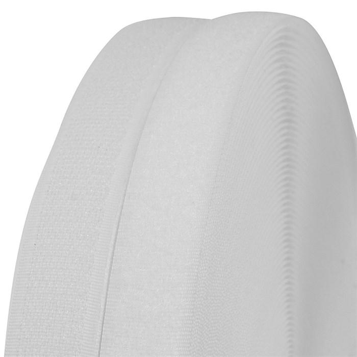 """Лента """"липучка"""" TBY пришивная кач.С шир.20мм цв.F101 белый уп.25м (пара) - фото 248356"""
