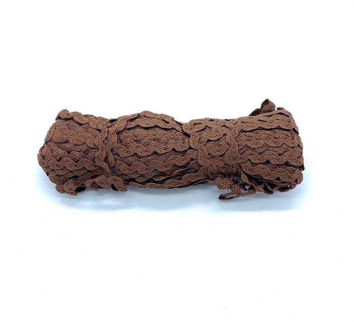 Тесьма плетеная 'вьюнчик' арт.С-3014 (3582) г17 шир.8мм (5мм) рис.6688 цв.055 коричневый фас.20м - фото 248690