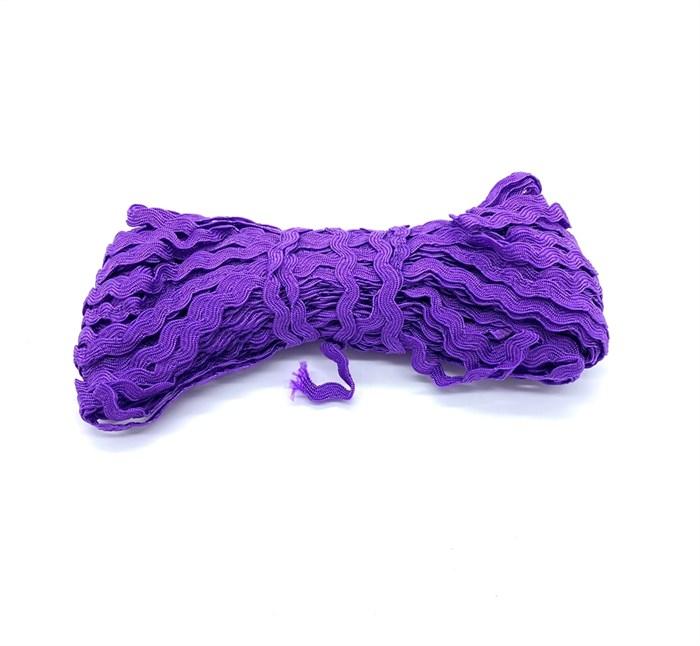 Тесьма плетеная 'вьюнчик' арт.С-3014 (3582) г17 шир.8мм (5мм) рис.6688 цв.048 фиолетовый фас.20м - фото 248694