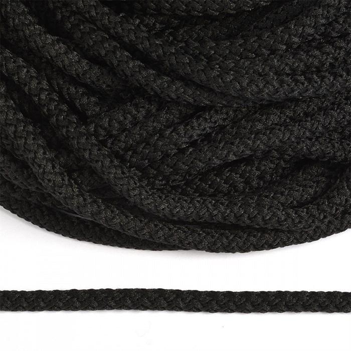 Шнур круглый полиэфир 05мм арт.1с-50/35 с наполнителем цв.325 черный уп.200м - фото 249192
