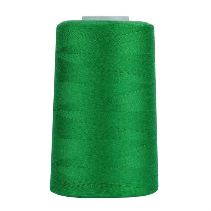 Нитки 40/2 5000 ярд. цв.430 зеленый 100% п/э MAX - фото 249205