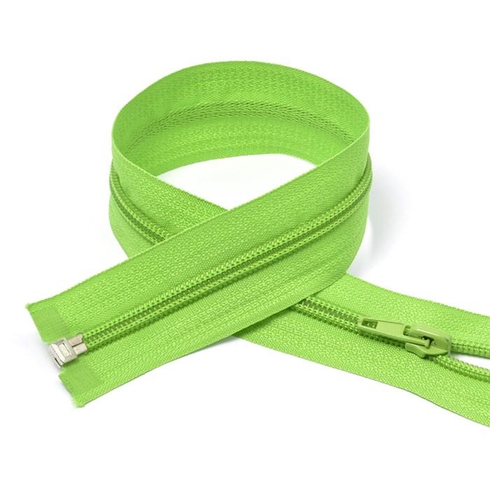 Молния MaxZipper пласт. спираль №5-N 80см цв.F238 ярк.зеленый упак.10шт - фото 249982