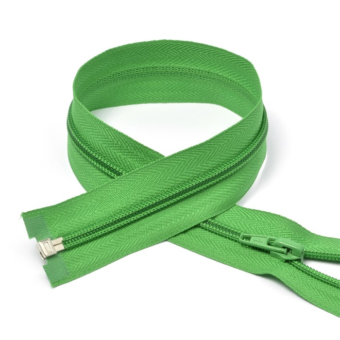 Молния MaxZipper пласт. спираль №5-N 80см цв.F243 зеленый упак.10шт - фото 249983