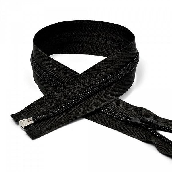 Молния MaxZipper пласт. спираль №5-N 80см цв.F322 черный упак.10шт - фото 249999
