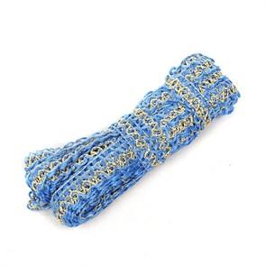 Тесьма вязаная отделочная арт.с3630г17 рис.8671 с метанитом шир.10 мм цв.16 синий-золото