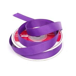 Лента репсовая шир.15мм цв.465 яр.фиолетовый IDEAL уп. 22,85м