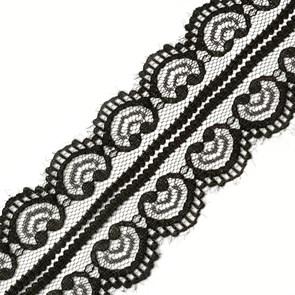 Кружево-трикотаж арт.TBY-5002-2 цв.черный уп.22,86м
