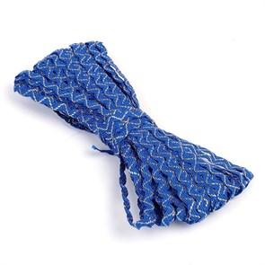 Тесьма плетеная 'вьюнчик' арт.С-3015 (3584) г17 шир.7мм (5мм) рис.8528 цв.синий-золото (люрекс) фас.20м