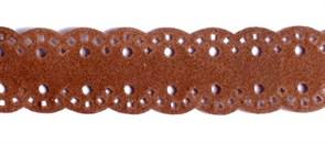Тесьма велюр  арт.ТВ-D1  шир.18мм  цв.15 коричневый