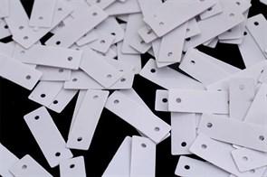 Пайетки россыпью Ideal  арт.ТВY-FLK361  5х15мм  цв.035 белый уп.50гр