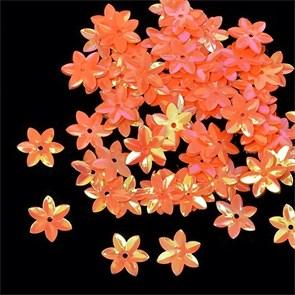 Пайетки россыпью Ideal  арт.ТВY-FLK462  15мм  цв.327 оранжевый уп.50гр