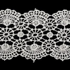 Кружево гипюр арт.TBY-YS02 шир.50мм цв.белый уп.13.71м