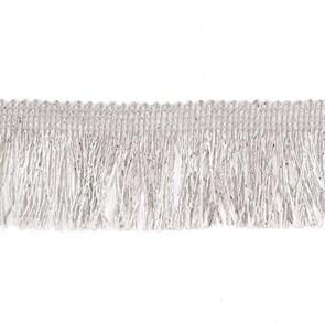 Тесьма-бахрома  арт.TBY-016/6709  шир.40 мм цв. серебро  уп.13.71м