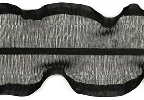 Тесьма  'рюш' арт.TBY CS-10 / 2-стор.  шир.80мм  цв.черный  уп.13.71м