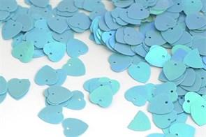 Пайетки россыпью Ideal  арт.ТВY-FLK297  10мм  цв.017 голубой уп.50гр