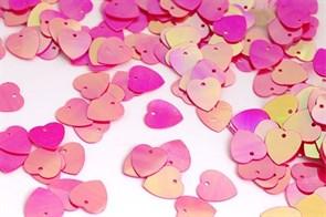 Пайетки россыпью Ideal  арт.ТВY-FLK297  10мм  цв.028 яр.розовый уп.50гр