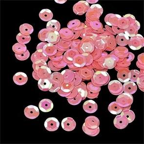 Пайетки россыпью Ideal  арт.ТВY-FLK032  8мм  цв.29 розовый уп.50гр