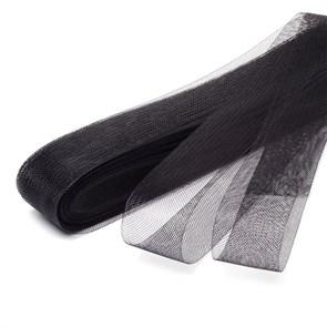 Регилин мягкий  арт. MF-40 шир.40мм  цв.черный ( рул. 23м )