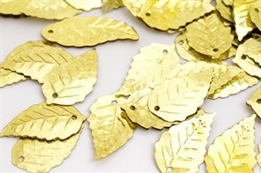 Пайетки россыпью Ideal  арт.ТВY-FLK628  13х24мм  цв.50106 золотой уп.50гр