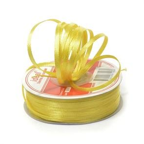 Лента атласная 1/8' (3мм) цв.3014 желтый IDEAL уп.100 м