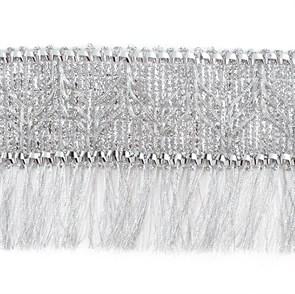 Тесьма-бахрома  арт.TBY-001/5096  шир.70 мм цв. серебро  уп.13.71м