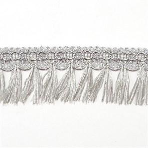 Тесьма-бахрома  арт.TBY-002/10433  шир.40 мм цв. серебро  уп.13.71м