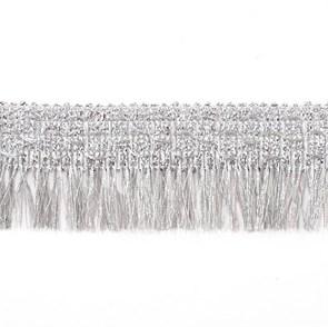 Тесьма-бахрома  арт.TBY-003/3792  шир.40 мм цв. серебро  уп.13.71м