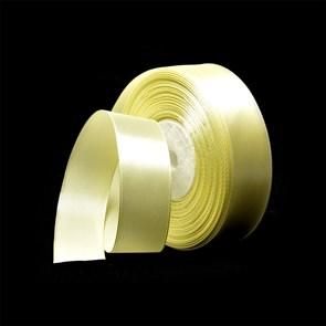 Лента атласная 1' (25мм) цв.3011 св.желтый IDEAL уп.27,4 м