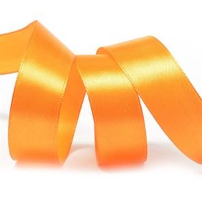 Лента атласная 1' (25мм) цв.3020 яр.оранжевый IDEAL уп.27,4 м