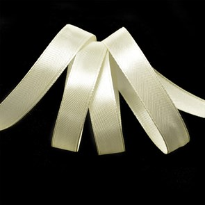 Лента атласная 1/2' (12мм) цв.3004 св.кремовый  IDEAL уп.27,4 м