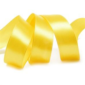 Лента атласная 1' (25мм) цв.3016 т.желтый IDEAL уп.27,4 м