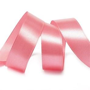 Лента атласная 1' (25мм) цв.3075 гр.розовый IDEAL уп.27,4 м