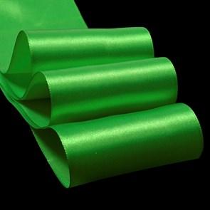 """Лента атласная 3"""" (75мм) цв.3042 зеленый IDEAL уп.27,4 м"""