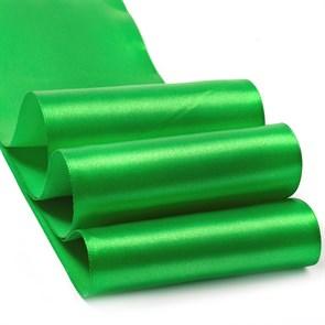 """Лента атласная 4"""" (100мм) цв.3042 зеленый IDEAL уп.27,4 м"""