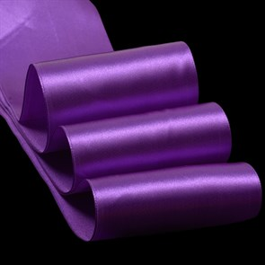 "Лента атласная 4"" (100мм) цв.3118 игдиго IDEAL уп.27,4 м"
