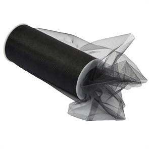 Фатин средней жесткости в шпульках  арт.TBY.C шир.145мм цв.23 черный фас.22.86м