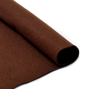 Фетр листовой мягкий IDEAL 1мм 20х30см арт.FLT-S1 уп.10 листов цв.687 т.коричневый
