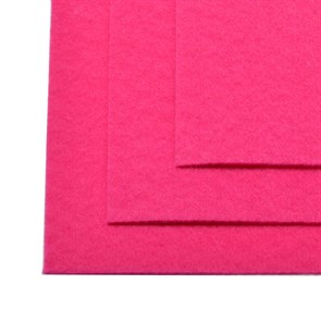 Фетр листовой жесткий IDEAL 1мм 20х30см арт.FLT-H1 уп.10 листов цв.609 яр.розовый